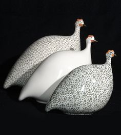 My grandson calls these 'funny girls' (guinea fowls) - get it !!