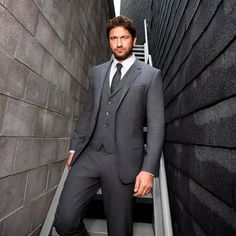 Gerard Butler is the role model for the look of all the McNeill men... with blue eyes and dark hair.