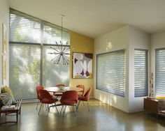 Shades Hunter Douglas Nantucket Angled Window Transitional Contemporary diningroom