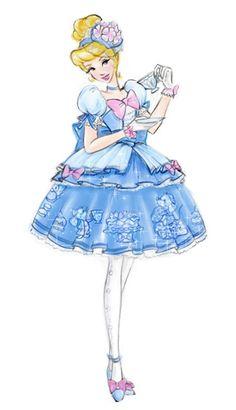 Fairy Tale Mood / Dress designs for Cinderella doll by Jenny Chung Disney Princess Tattoo, Disney Princess Dresses, Tattoo Disney, Punk Princess, Disney Princesses, Cinderella Doll, Cinderella Dresses, Disney And Dreamworks, Disney Pixar