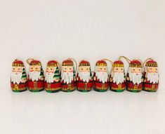 Vintage set of wooden Christmas tree ornaments, Russian doll Tree ornaments by Seekandchic on Etsy Wooden Christmas Trees, Xmas Tree, Christmas Presents, Christmas Tree Ornaments, Vintage Christmas, Christmas Decorations, Vintage Decor, Vintage Antiques, Hand Painted