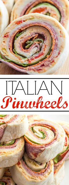 Italian Pinwheels are a fun, quick and tasty appetizer for your holiday, game day or snacking needs!