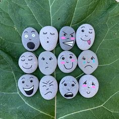 Emotion Stones, Identifying Feelings, Children's Emotional Intelligence, Expression Faces, Zones of Regulation Kids' Mental Health Awareness - Therapy Resources - Babysitting Activities, Preschool Activities, Health Activities, Camping Activities, Rock Crafts, Diy Crafts, Kids Mental Health, Children Health, Zones Of Regulation