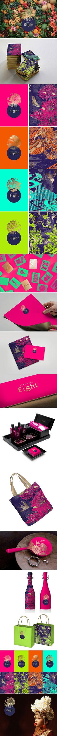 The Happy Eight Hotel Branding — The Dieline - Branding & Packaging Design