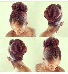 Love this bun @Mo Knows Hair