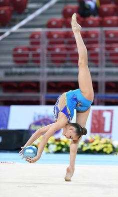 VERTICAL..GYM BALL.......................... AVERINA (Russia) ~ Ball @ WC Sofia 2016  Photographer  Oleg Naumov.