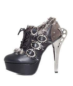 c39950812d6 Hades Shoes - Monarch Steampunk Flame Buckles Shoes 5.5 Black  shoes   Steampunk