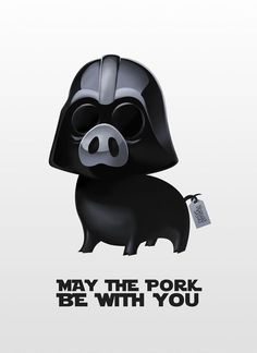Pig Darth Vader from Star Wars Artwork by Lorenzo Sabia Buy Pig Vader's prints, smartphone/tablet covers, t-shirt and many other stuff on RedBubble --&g. Animals And Pets, Baby Animals, Funny Animals, Cute Animals, Pink Animals, Funny Pigs, Cute Pigs, This Little Piggy, Little Pigs
