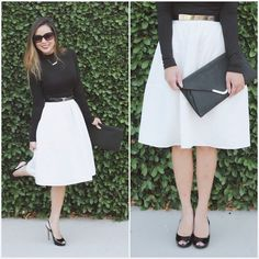 Get this look: http://lb.nu/look/6710728  More looks by Marilyn N.: http://lb.nu/marilynnoir  Items in this look:  H&M Turtle Neck, Express Midi Skirt, Marciano Sling Back, Marciano Sunnies