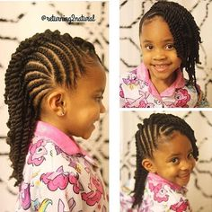 STYLIST FEATURE| Love this side swept style with #cornrows styled by #charlottestylist @returning2natural She is too cute #voiceofhair