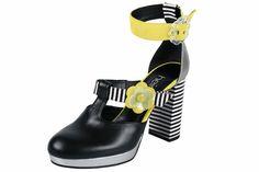 Schlangenprägung Leder Pumps Högl schwarz #schuhe #fashion