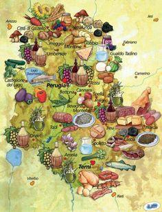 Umbria map.