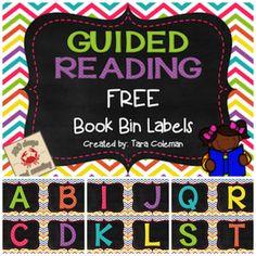 Guided Reading Book Bin Labels..FREEBIE!!!