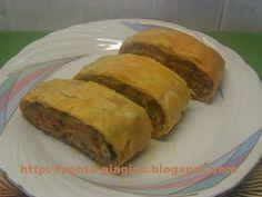 Τα φαγητά της γιαγιάς -Ρολό μελιτζάνας με κιμά σε φύλλο σφολιάτας