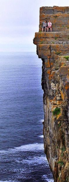 Daredevil cliffs Aran Islands Ireland