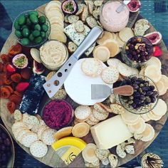 The ultimate cheeseboard- perfect for those who love to graze on food! Made by me x Food Inspiration, Dairy, Cheese, Fiestas