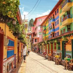The oh so colorful town of Guatape, @experiencecolombia. Tag a friend you'd explore here with!  #VisitSouthAmerica #ExperienceColombia