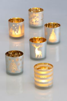 Assorted Holiday Votive Candle Holder - Set of 6 on @HauteLook