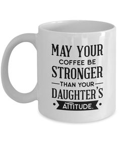 Bring a smile to your parents face with this funny daughter coffee mug. Bring a smile to your parents face with this funny daughter Coffee Mug Quotes, Coffee Humor, Beer Quotes, Funny Coffee Cups, Funny Mugs, Cute Coffee Mugs, Diy Gifts For Dad, Mugs For Men, Coffee Gifts