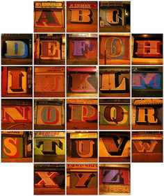 A Complete Alphabet of Eine's Shopfront Shutter Graffiti    From @davegorman...  This was originally posted to flickr in January 2006, having spent a couple of days cycling around the East End of London to take the original Photos.
