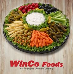 WinCo Deli Catering Prices:  Relish Tray