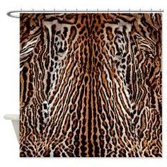 Real Tiger Skin design Shower Curtain> Real Tiger Skin Design> Victory Ink Tshirts and Gifts