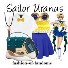 A fashion look from August 2015 featuring distressed shirt, circle skirts and white flats. Browse and shop related looks. Anime Inspired Outfits, Anime Outfits, Sailor Moon Collectibles, Sailor Moon Cosplay, Sailor Uranus, Fancy Costumes, Fandom Fashion, Casual Cosplay, Easter Outfit
