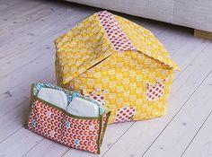 Foliekes van Stoffenmie: Gratis patroon om een pamperhuisje te maken.