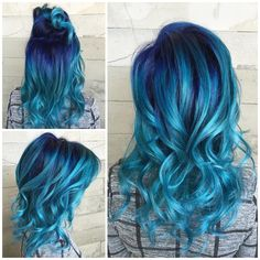 "Pulp Riot Hair Color on Instagram: ""Ocean View... By @alexisbutterflyloft using Pulp Riot colors Mercury, Nightfall, Absinthe, and Powder."""
