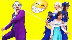 Joker Bắt Trói Cảnh Sát Công Chúa Nhí Frozen Elsa và Spiderman Hoạt Hình...