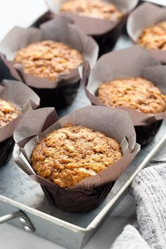 Morning Glory Muffins Recipe  posted by Jamie on September 8, 2017 Morning Glory Muffins are sweet, moist and ideal for busy mornings! Pair them with a mug of your favorite coffee for the perfect fall breakfast. Are you a muffin kind of person? I totally am, but most of the time, I prefer muffin tops. Yep, I'm the girl […]  http://thedirtygyro.com/morning-glory-muffins-recipe/