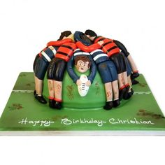 The Cake Store have a wide range of Birthday & Celebration Cakes with hundreds of brilliant designs, delicious fillings and free short notice delivery. Rugby Cake, Football Birthday Cake, Sports Themed Cakes, Birthday Cakes For Teens, Birthday Ideas, 50th Cake, Sport Cakes, Fondant Cakes, Cake Icing