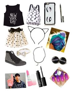"""""""Your first date with Calum outfit"""" by calum-sweater ❤ liked on Polyvore featuring Billabong, Kate Spade, River Island, Brandy Melville, NARS Cosmetics, Cynthia Rowley and INDIE HAIR"""