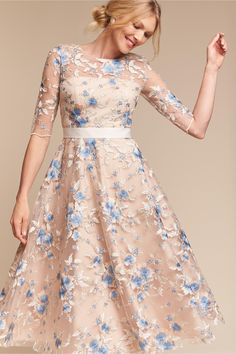 BHLDN Linden Dress in  Occasion Dresses View All Dresses Print Dresses | BHLDN