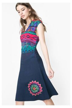 Desigual Ethnic print dress. Discover the spring-summer 2016 collection!