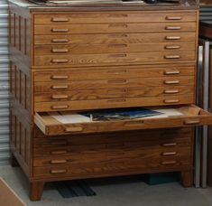 Of course with my meager tool collection I won& be able to fill all fifteen drawers, so any and all donations will be greatly appreciated. Unique Furniture, Vintage Furniture, Diy Furniture, Furniture Design, Flat File Cabinet, Printer Cabinet, Art Studio Storage, Art Storage, Art Studio Design