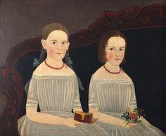 William Matthew Prior (American Artist, 1806-1873 Laura Ann and Mary Ellen Wood
