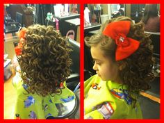 Pageant hair! Glitz Pageant Hair, Beauty Pageant Hair, Pageant Hair And Makeup, Hair Makeup, Hair Beauty, Pageant Dresses, Princess Hairstyles, Little Girl Hairstyles, Cute Hairstyles