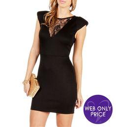 a10187ec431 Black Bold Shoulder Scuba Dress what do you think