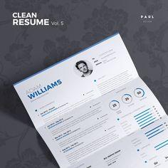 Clean Resume Vol. 5  Word and Indesign by #TheResumeCreator on Etsy  #Lebenslauf #Cv #CurriculumVitae #Resume