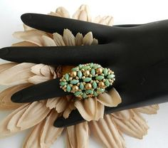duo twin beads   Picasso Bracelet and Ring -SuperDuo Twin Bead Pattern Tutorial ...