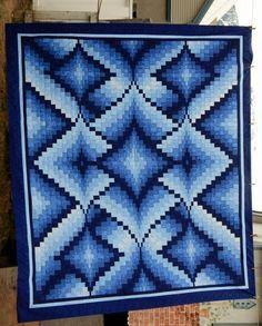 Beautiful Blue Bargello Wish I had the pattern Bargello Quilt Patterns, Bargello Quilts, Quilt Patterns Free, Quilting Projects, Quilting Designs, Broderie Bargello, Blue Quilts, Quilt Tutorials, Quilt Making