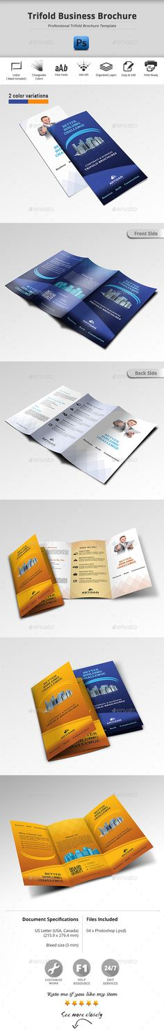 Trifold Business Brochure Template Design Http Graphicriver