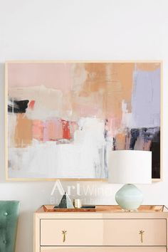 Large Abstract Oil Painting, Oversize Painting, Pink Painting, White Painting, Abstract Painting Wal Pink Painting, Oil Painting Abstract, How To Abstract Paint, Painting Art, Watercolor Painting, Watercolor Artists, Painting Lessons, Abstract Art For Sale, Abstract Wall Art