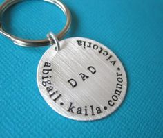 Father's Day gift idea: personalized keychain | found via Cool Mom Picks