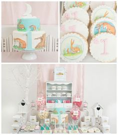 How Much I Love You 1st Birthday Party via Kara's Party Ideas KarasPartyIdeas.com Cake, cookies, favors, food, and more! #peterrabbit #1stbirthdayparty #firstbirthday #peterrabbitparty (2)