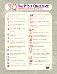 iMOM 30 Day MOM CHALLENGE
