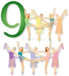 12 Days Of Christmas: 9 Ladies Dancing Stock Illustration - Illustration of dancing, colors: 1309463 Twelve Days Of Christmas, Christmas Carol, White Christmas, Christmas Time, Christmas Ideas, Christmas Crafts, Days Of Creation, Hand Painted Ornaments, Christmas Illustration