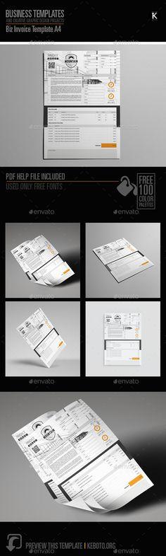 Biz Invoice Template A4 Font logo, Adobe and Fonts - invoice logo