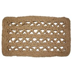 J and M Home Fashions Chain Rectangle Woven Coco Doormat, 18-Inch by 30-Inch ** Read more reviews of the product by visiting the link on the image. (This is an affiliate link and I receive a commission for the sales)